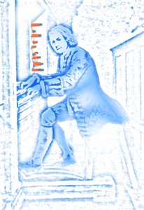 Bach at the organ