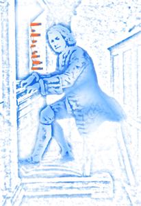 Bach at the organ